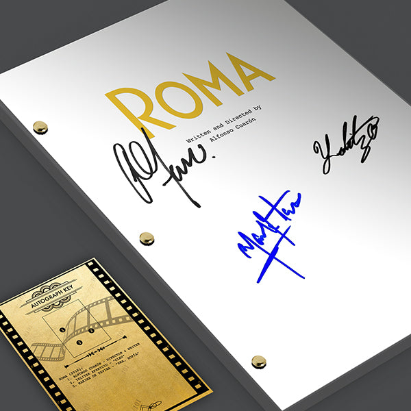 Roma 2018 Signed Film Movie Script Screenplay Autograph