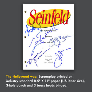 Seinfeld TV Script Signed Screenplay Autograph Reprint - Jerry Seinfeld - Julia Louis Dreyfus - Michael Richards - Larry David