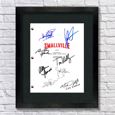 Smallville Signed Script Screenplay Autograph Reprint - Tom Welling - Kristen Kreuk - Allison Mack