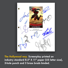 Spider-Man into the Spider-verse Movie Screenplay with Signed Autograph