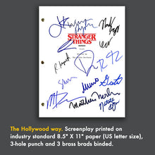 Stranger Things Tv Script Pilot Episode Screenplay - Signed Autograph Reprint - Winona Ryder, David Harbour, Mille Bobby Brown, Finn Wolfhard