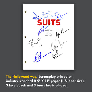 Suits TV Signed Script Screenplay Autograph Reprint - Meghan Markle - Patrick J Adams - Gabriel Macht - Gina Torress
