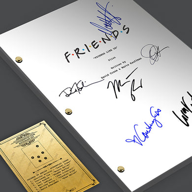 FRIENDS TV Show Pilot Episode Script Screenplay - Signed Autograph Reprint - Jennifer Aniston, Courtney Cox, David Schwimmer, Matt LeBlanc