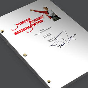 Mister Rogers Neighborhood TV Episode #1613 Signed Autograph Script Screenplay - Fred Rogers