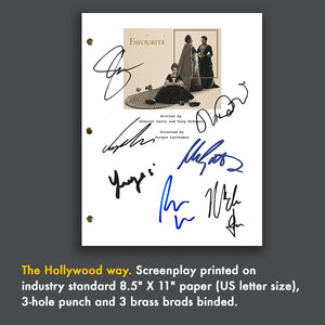 The Favorite Movie Screenplay with Signed Autographs Emma Watson, Olivia Colman, Rachel Weisz