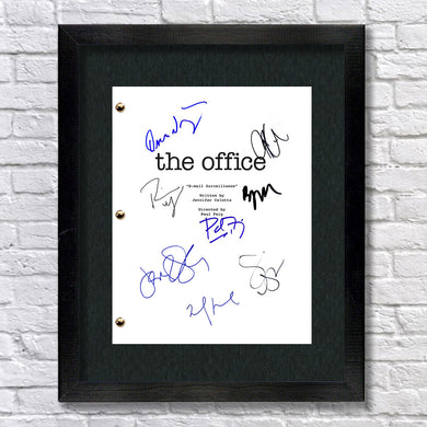 The Office Tv Show Signed Script Autograph Reprint - Steve Carell - Rainn Wilson - Jenna Fischer - John Krasinski