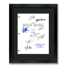 West Wing Tv Show Script Screenplay Card Gift Signed Autograph Reprint - Aaron Sorkin, Jed Barlet, Martin Sheen, Lyman, Seaborn, Cregg
