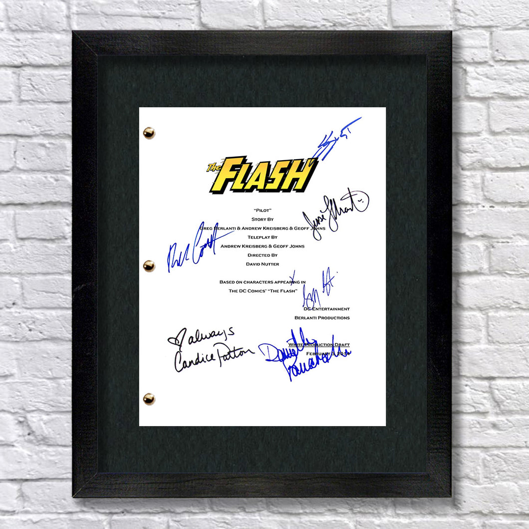The Flash TV Signed Script Screenplay Autograph Reprint - Grant Gustin - Candice Patton - Danielle Panabaker - Rick Cosne