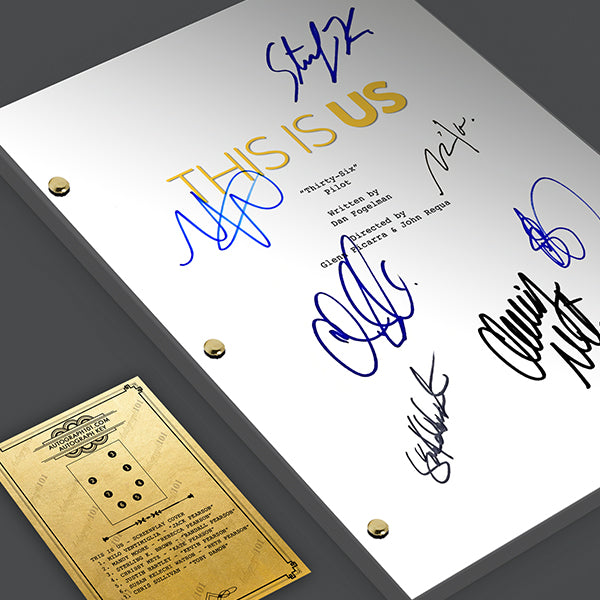 This is Us TV Script Episode Screenplay - Signed Autograph Reprint - Milo Ventimiglia, Mandy Moore, Chrissy Metz, Jack Rebecca Pearson