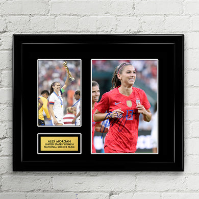 Alex Morgan - Signed Poster Art Print Artwork - Fifa World Cup 2018 US Women National Soccer Team USWNT