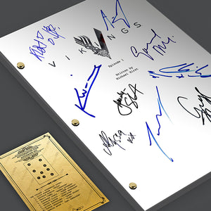 The Vikings Pilot Signed TV Screenplay