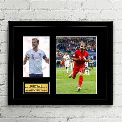 Harry Kane - England National Football Team - Fifa World Cup 2018 Signed Poster Art Print Artwork