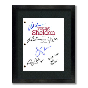 Young Sheldon Signed Script Screenplay Signed Autograph Reprint - Big Bang Theory, Iain Armitage, Sheldon Cooper, Jim Parsons