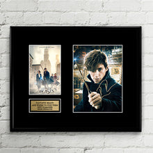 Fantastic Beasts and Where to Find Them - Eddie Redmayne - Autograph Signed Poster Art Print Artwork - JK Rowling
