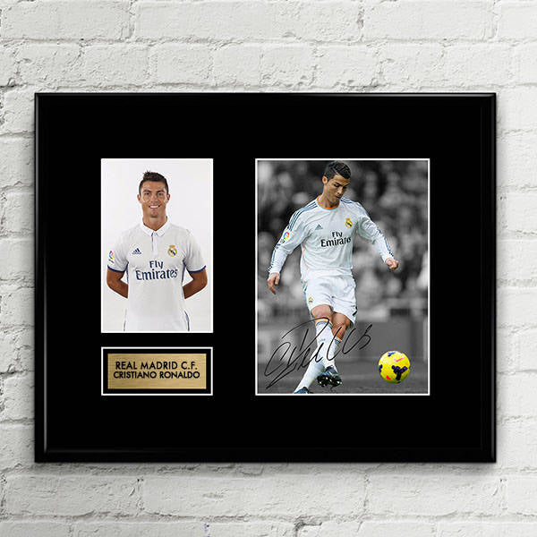 Cristiano Ronaldo - Signed Poster Art Print Artwork - Real Madrid CR7