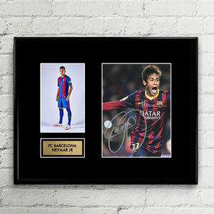 Neymar JR Autograph Signed Poster Art Print Artwork - FC Barcelona