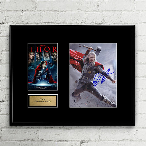 THOR - The Avengers - Chris Hemworth - Autograph Signed Poster Art Print Artwork