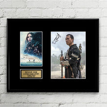 Donnie Yen - Signed - Rogue One A Star Wars Story - Autograph Signed Poster Art Print Artwork - Chirrut Imwe