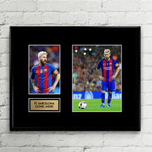 Lionel Messi Autograph Signed Poster Art Print Artwork - FC Barcelona - Leo Messi