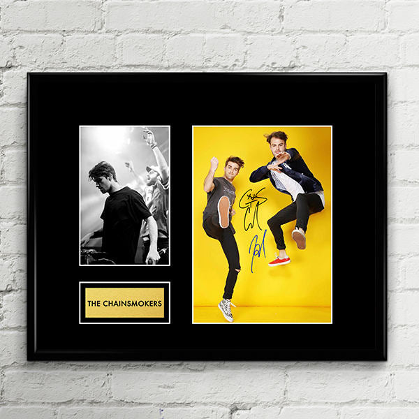 The Chainsmokers - Andrew Taggart Alex Pall - Autograph - Signed Poster Art Print Artwork - Grammy Billboard