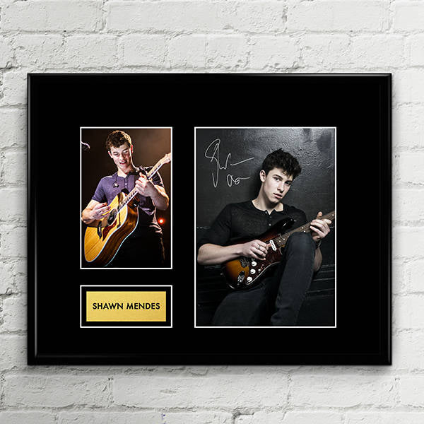Shawn Mendes - Autograph - Signed Poster Art Print Artwork - Grammy Billboard