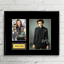 Harry Styles - Autograph Signed Poster Art Print Artwork - One Direction fans must-see - Brit MTV Awards