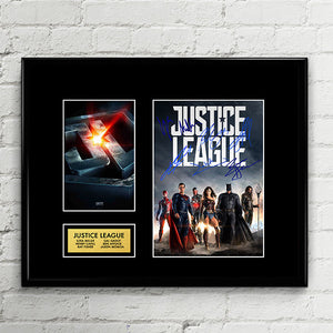 Justice League CAST Autograph - Autograph Signed Poster Art Print Artwork - Batman, Wonder Woman, The Flash, Aquaman, Cyborg, Superman