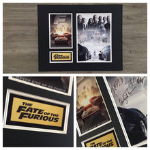 The Fate of the Furious 8 - Fast and Furious Autograph Signed Poster Art Print Artwork - Vin Diesel, Dwayne Johnson, Tyrese, Ludacris