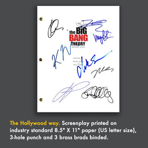 The Big Bang Theory Signed Script Screenplay Autograph Reprint - Jim Parsons - Johnny Galecki - Kaley Cuoco - Melissa Rauch