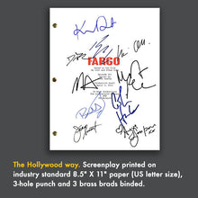 Fargo TV Pilot Episode TV Script Screenplay - Signed Autograph Reprint - Billy Bob Thornton - Martin Freeman - Ewan McGregor