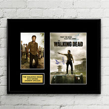 Rick Grimes Andrew Lincoln - The Walking Dead - Autograph Signed Poster Art Print Artwork