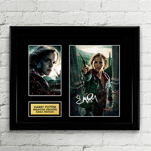Emma Watson - Hermione Granger Signed Poster Art Print Artwork Reprint - Hogswarts Harry Potter Cursed Child by JK Rowling