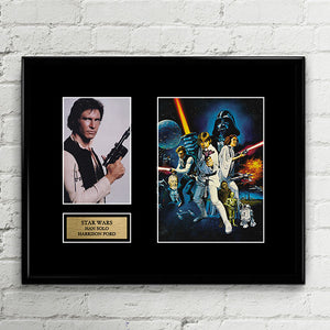 Han Solo Harrison Ford Signed Star Wars - Autograph Signed Poster Art Print Artwork
