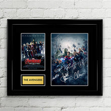 The Avengers Cast Autograph Signed Poster Art Print Artwork - Feat. Iron Man, Captain America, Black Widow, Hulk, Thor, Hawkeye, Nick Fury,