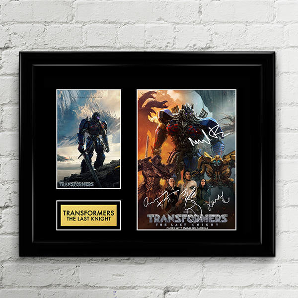Transformers The Last Knight Reprint Autograph Signed Poster Art Print Artwork - Michael Bay, Mark Wahlberg, Laura Haddock, Anthony Hopkins