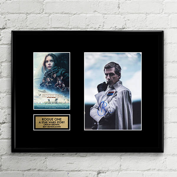 Ben Mendelsohn Signed - Orson Krennic - Rogue One A Star Wars Story -  Signed Poster Art Print Artwork