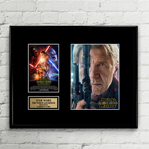 Han Solo Harrison Ford Signed - Star Wars - Force Awakens - The Last Jedi - Autograph Signed Poster Art Print Artwork