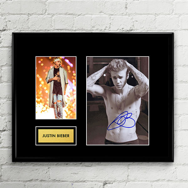 Justin Bieber - Autograph - Signed Poster Art Print Artwork - Grammy Billboard