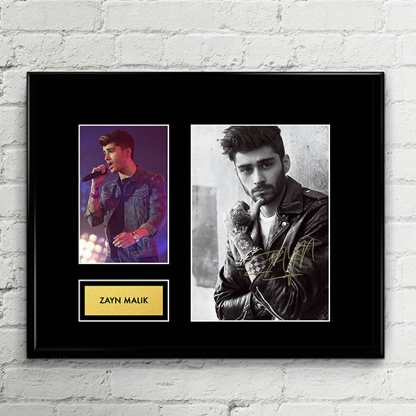 Zayn Malik - One Direction - Signed Poster Art Print Artwork - Brit MTV Awards