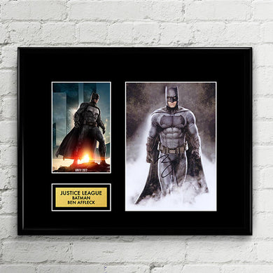 Batman - Ben Affleck Justice League - Autograph Signed Poster Art Print Artwork