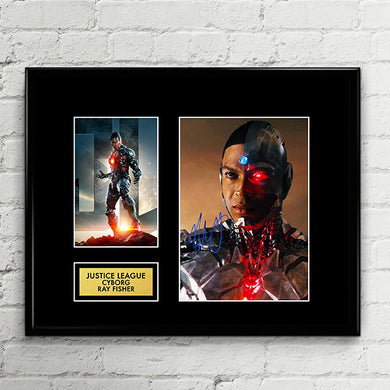 CYBORG - Ray Fisher - Justice League Autograph Signed Poster Art Print Artwork