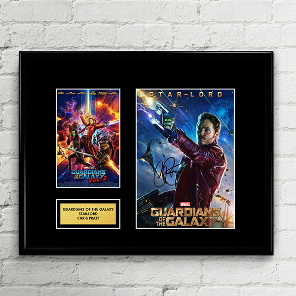 Star-Lord - Guardians of The Galaxy Vol. 2 - Chris Pratt Autograph Signed Poster Art Print Artwork - Gamora, Drax, Rocket Racoon, Groot