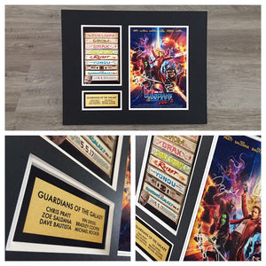 Guardians of The Galaxy Vol. 2 - Autograph Signed Poster Art Print Artwork - Feat. Star-Lord, Gamora, Drax, Rocket Racoon, Baby Groot, Yondu