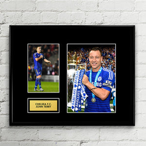 John Terry Chelsea Autograph Signed Poster Art Print Artwork - Chelsea FC Football Club - Premier League Champions 2017