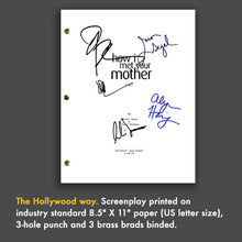 How I Met Your Mother HIMYM TV Pilot Episode Script Screenplay - Signed Autograph Reprint - Neil Patrick Harris, Cobie Smulders