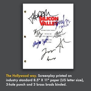 Silicon Valley Signed Pilot Script Screenplay Autograph Reprint - Thomas Middleditch - TJ Miller - Martin Starr - Amanda Crew
