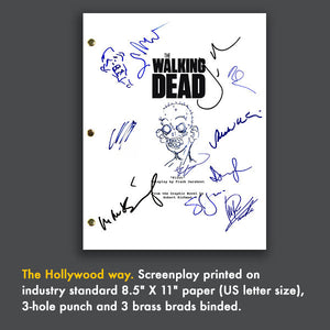 The Walking Dead Signed Script Screenplay Autograph Reprint - Andrew Lincoln - Norman Reedus - Jon Bernthal - Chandler Riggs - Steven Yuen