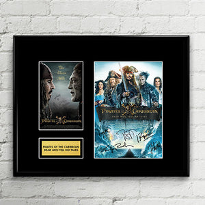 Pirates of the Caribbean 5: Dead Men Tell No Tales - Salazar's Revenge - Cast Autograph Signed Poster Art Print Artwork - Johnny Depp