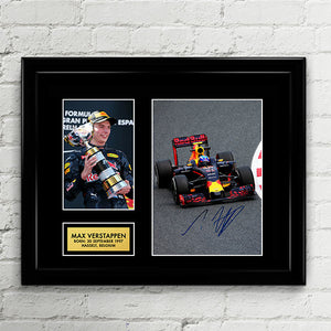 Max Verstappen - Red Bull Racing - Formula One F1 Autograph Signed Poster Art Print Artwork