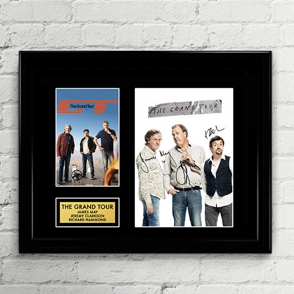 The Grand Tour - Jeremy Clarkson, Richard Hammond, James May - Cast Autograph Signed Poster Art Print Artwork - BBC Top Gear Hosts